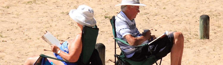 Elders on the beach